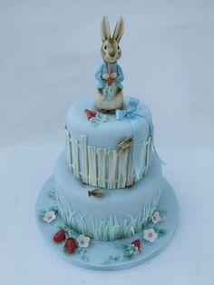 Peter Rabbit Cake by Emma Jayne Cake Design Cupcakes, Cupcake Cakes, Beatrix Potter Cake, Cake Pops, Peter Rabbit Cake, Foundant, Fantasy Cake, Ice Cake, Spring Cake