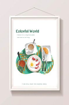 Top view angle illustration gourmet western food nice breakfast illustration#pikbest#templates Food Template, Templates, Nice Breakfast, Western Food, Top View, Graphic Design, Creative, Illustration, Gourmet