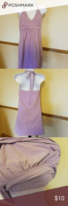 Victoria's Secret Halter Mini Dress Soft jersey cotton fabric in a nice lilac color.  Has a built in bra and gold halter tie ring detail. Victoria's Secret Dresses Mini
