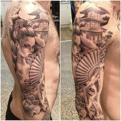 Resultado de imagem para geisha girl tattoo