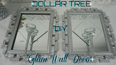 Dollar tree diy bling mirror wall sconce dollar store glam wall decor diy home decor ideas 2018 Glam Mirror, Mirror Wall Art, Diy Mirror, Wall Sconces, Salon Mirrors, Mirror Crafts, Diy Home Decor Rustic, Diy Home Decor Bedroom, Diy Wall Decor