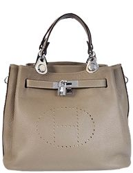 Mini So Kelly Bag Grey With Silver Hardware
