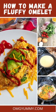 This fluffy pancetta omelet is easy to make - no need to separate the eggs and whip the whites. Just lots of whisking and a medium heat pan. Also, pre-cooking the fillings adds so many layers of flavor and makes it come together so quickly once the eggs are in the pan. #pancetta #omelet #omelette #eggrecipes #brunch #fathersday #breakfast #fluffyomelette Egg Recipes For Breakfast, Breakfast Toast, Breakfast For Dinner, Brunch Recipes, Sweets Recipes, Whole 30 Recipes, Great Recipes, Simple Recipes, Favorite Recipes