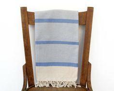 Turkish Towel ICE COOL PESHTEMAL Handwoven Turkish Bath Towel Beach Wrap Sarong Fouta Pareo Throw Shawl Turkish Beach Towel Pool Blue