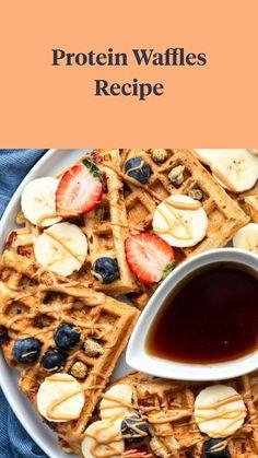 Gluten Free Recipes For Breakfast, Breakfast Options, Make Ahead Breakfast, Sweet Breakfast, Low Carb Recipes, Breakfast Club, Protein Waffles, Protein Foods, Protein Recipes