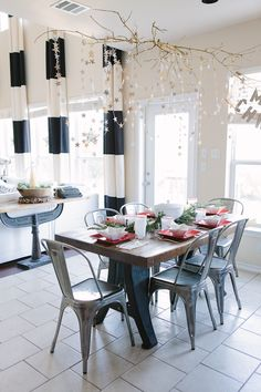 Dining area. From the Living With Kids Home Tour featuring Candice Stringham.