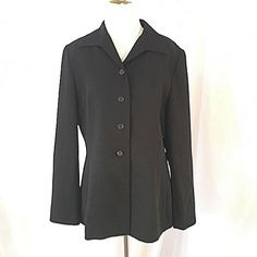 """Tahari Blazer Beautiful fully lined black blazer. This roomy blazer has  a 4 button front closure and button detail on each sleeve. Approximate measurements:  Bust-40"""". Waist-36"""". Hips-44"""". Length-28"""". Tahari Jackets & Coats Blazers"""