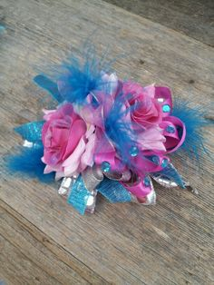 Silk corsage for prom