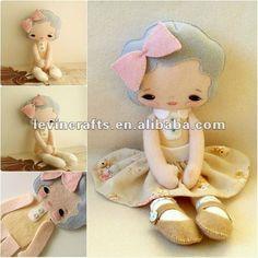 quiet e sentado menina boneca em feltro - portuguese.alibaba.com