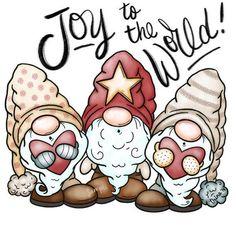 Christmas Gnome, Christmas Crafts, Vintage Christmas, Christmas Artwork, Christmas Clipart, Christmas Christmas, Christmas Ornament, Holiday, Illustrations