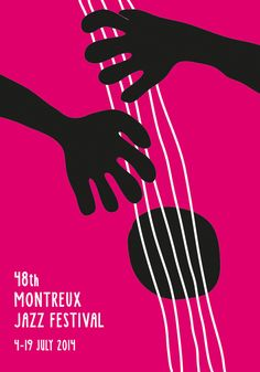 Finn Nygaard, Montreux Jazz Festival Poster 2014. make music toge aujya aami jeyop