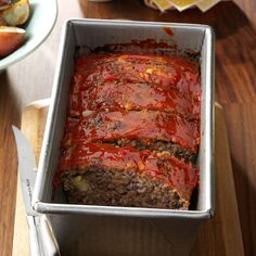 Meat Loaf with Oatmeal Recipe -A simple blend of seasonings results in a hot and hearty meat loaf that's big on flavor and very satisfying. —Lauree Buus, Rapid City, South Dakota