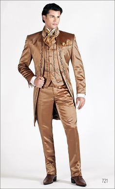 Gold wedding suit for man