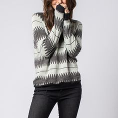 Start the weekend with the new colors of the 'Saturday Sweater', complete with the signature of the lady who made it.