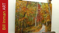 Learn to Paint Trees with Fall Leaves - 'Early One Morning' Oil Painting...