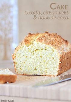 Alter Gusto   Cake à la ricotta, citron vert & coco -