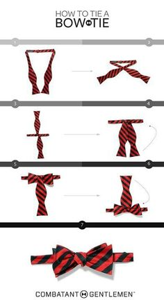 How to tie a bow tie. Every gentleman should know how to do this and own at least one! Because bow ties are cool!