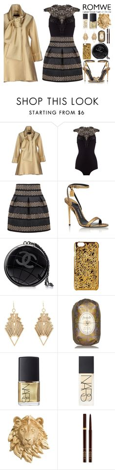 """my heart is gold, and my hands are cold"" by iradicate ❤ liked on Polyvore featuring Elie Saab, Tom Ford, Chanel, Marc by Marc Jacobs, Charlotte Russe, Fresh and NARS Cosmetics"