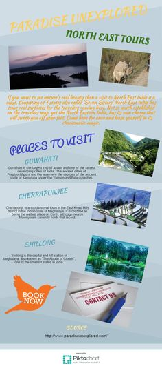 Explore exciting aroma of North East India tours with Paradise Unexplored. Book now and have wondefull vacations with paradise unexplored. Visit : http://www.paradiseunexplored.com/north-east-tour.html