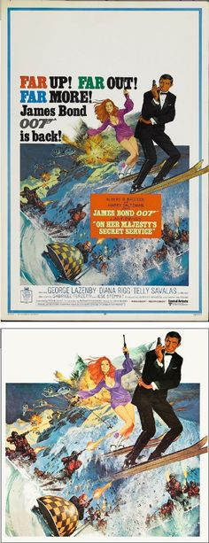 ROBERT McGINNIS - On Her Majesty's Secret Service - 1969 United Artists - poster by fineart.ha.com - print by geekynerfherder.tumblr.com