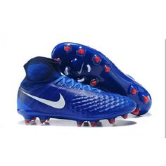 new style 0b14d 80ef5 Nike Magista Obra II FG Sock Soccer Cleats - Royal White Red