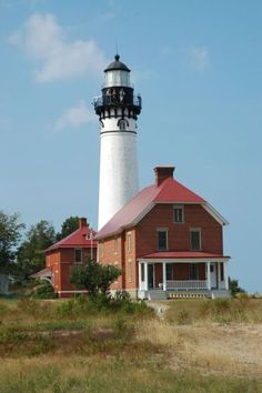 Au Sable Point Lighthouse, Lake Michigan. #lighthouses #michigan http://joefollansbee.com/photos/lighthouses/