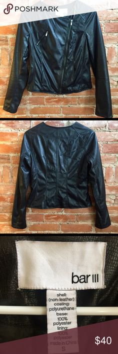 Bar III Faux Leather Jacket Bar III faux leather snakeskin jacket. Soft and lightweight. Worn a handful of times, like new condition with no flaws. Bar III Jackets & Coats Blazers