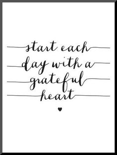 Mounted Print: Start Each Day With A Grateful Heart by Brett Wilson : 16x12in