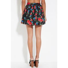Forever 21 Women's  Quilted Floral Skirt ($18) ❤ liked on Polyvore featuring skirts, mini skirts, short white skirt, forever 21 mini skirt, forever 21 skirts, box pleat skirt and cotton skirt