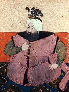 Sultan Ahmed II 1691-1695, portrait from nineteenth century manuscript no 3109, Topkapi Palace Museum, Istanbul, Turkey
