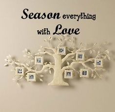 Season everything with LOVE Vinyl Wall Quote Decal by 7decals, $12.99