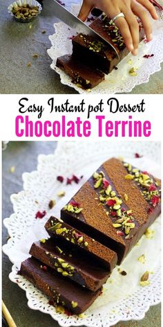 CHOCOLATE TERRINE - One of the easy Instant Pot desserts that is not a cheesecake made using simple ingredients like eggs, chocolate and cream. Learn how to make this quick instant pot recipe in a spr Chocolate Terrine, Chocolate Lava Cake, Chocolate Pots, Chocolate Desserts, Chocolate Pot Recipe, Instant Pot, Easy Desserts, Dessert Recipes, How To Cook Beef