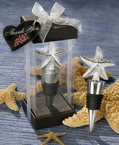 Elegant Starfish Wine Stoppers from Wedding Favors Unlimited