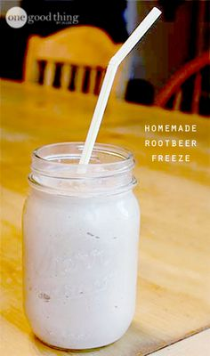 Homemade Rootbeer Freeze