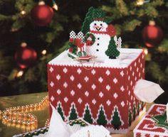 Snow Scene Tissue Box Cover 1/5