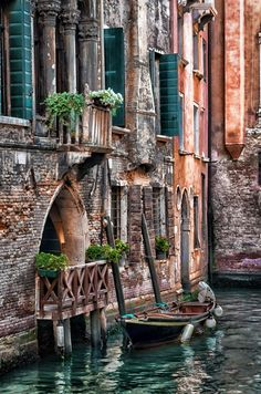 Little Boat Shot In Venice  by Francesco Ocello