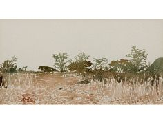 Adolph Stephan Friedrich Jentsch Bushveld, Namibia watercolour 17,5 by 33cm Sold R 19,800 (8 October 2009)