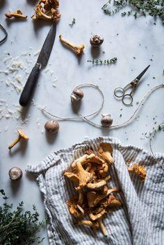 pan fried polenta + wild mushroom ragu