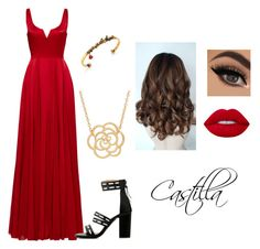 """Castilla #2"" by hyoung917 ❤ liked on Polyvore featuring Halston Heritage, Lime Crime, Alexander McQueen and Lord & Taylor"