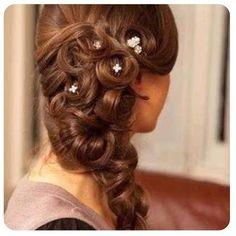 Beautiful wedding hair doo
