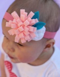 How to Make Flower Hair Bows