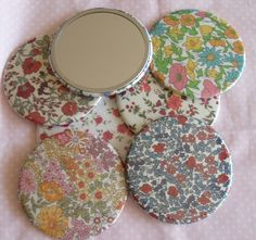 Fabric Covered Pocket Mirrors