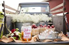 apple brandy punch truck    What vintage treats will you have at your wedding?