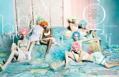 Pastel-Haired Editorials - The W Korea March 2012 Shoot is Colorful (GALLERY)