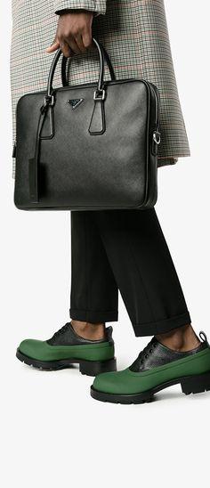 PRADA classic briefcase, explore Prada on Farfetch now.