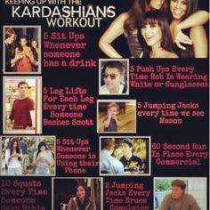 Kardashians workout game! I think this workout is too strenuous for me.