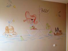 mural de piratas pablo personalizado con el nombre del bebe