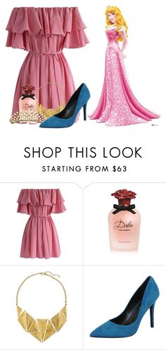 """""""<> From this slumber she shall wake. When true loves kiss the spell shall break. <>"""" by fangirl-0606 ❤ liked on Polyvore featuring Chicwish, Dolce&Gabbana, 8, Charles by Charles David, Disney, modern and botdf303"""