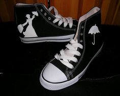 Mary Poppins Converse. OMG, I need these for Disney!!