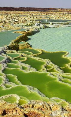 Acid lakes - Danakil Dessert, Ethiopia.